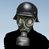 WW2 German Gas Mask — 图库照片