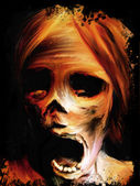 Fear Corpse Painting — Stock Photo