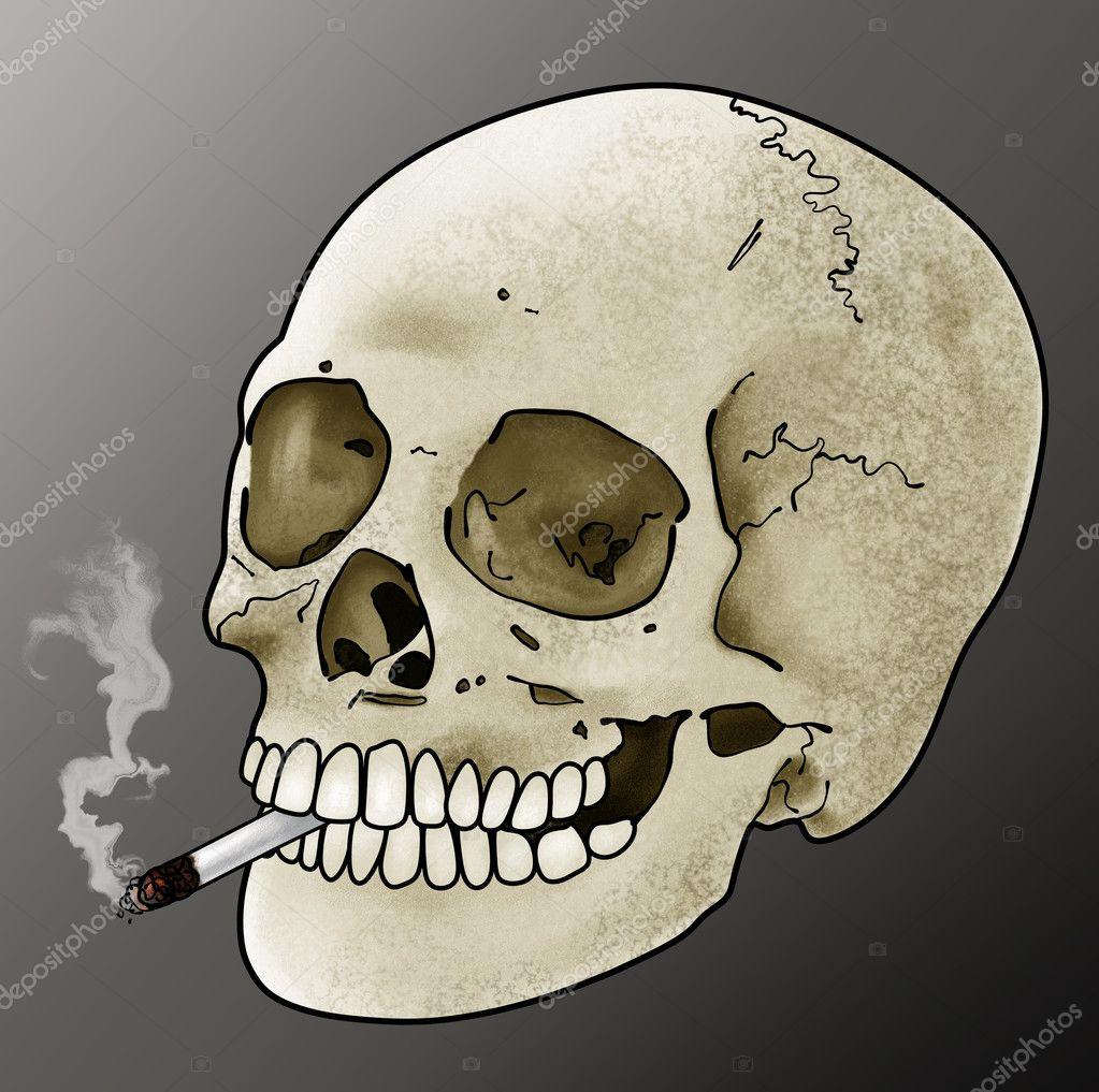 Smoking Skull Artwork — Stock Photo © aaronrutten #2955647