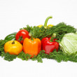 Different fresh tasty vegetables isolated on white. XXL. — Stock Photo
