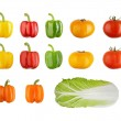 SET of vegetables isolated on white. - Stock Photo