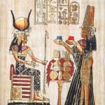 papyrus med inslag av egyptiska antikens historia. XXL — Stockfoto