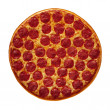 Whole Pepperoni Pizza — Stock Photo