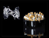 Enough smoking! It is Kill! XXL — Stock Photo