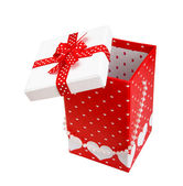 Celebratory Gift Box (With Hearts). XXL — Stock Photo