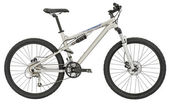 Sport silver bicycle with Clipping Path! — Stock Photo