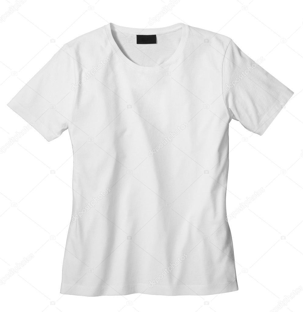 Unisex T-shirt template (isolated on white, clipping path)  Stock Photo #3513532