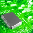 Stock Photo: Closeup of electronic circuit board with processor