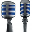 Royalty-Free Stock Photo: Retro Microphone (+ clipping path for easy background removing)