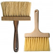 Clean Paintbrush with wooden stem on white + Clipping Path — Stock Photo #3562430