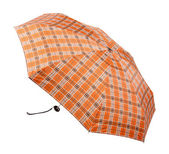 Opened umbrella isolated on white + clipping path. — Stockfoto