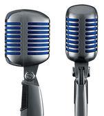 Retro Microphone (+ clipping path for easy background removing) — Stockfoto