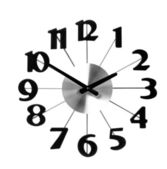 Wall clock icon isolated on white background — Stock Photo