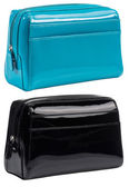Women's black & blue little business patent leather bag isolat — Stockfoto