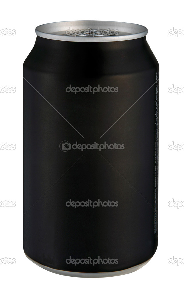 Black drink can isolated over white background   Stock Photo #3676546