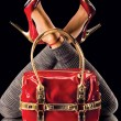 Red shoes and bag — Stock Photo