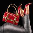 Royalty-Free Stock Photo: Red handbag and pumps.