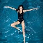 Swimming Woman — Stock Photo