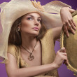 Woman in a hat - Stockfoto