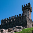 Sasso Corbaro castle. - Stock Photo