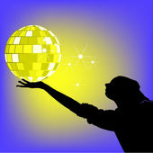 Disko topu — Stok Vektör