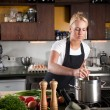 Stirring in the pan — Stock Photo #2948213