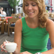 Enjoying a cup of coffee — Stock Photo #2948523