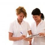 Two nurses meeting — Stock Photo