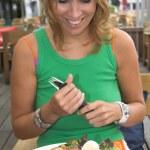Food makes me happy — Stock Photo
