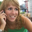Listening to the phone — Stock Photo