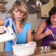 Baking cakes together — Stock Photo #2949063