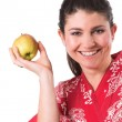 Holding up a apple — Stock Photo