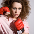 Aggressive woman — Stock Photo
