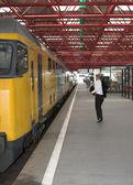 Catching the train — Foto de Stock
