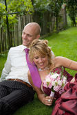 Relaxing after the wedding — Stock Photo