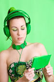 Green listener — Stock Photo