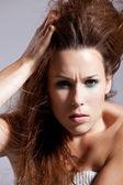 Peinado salvaje — Foto de Stock
