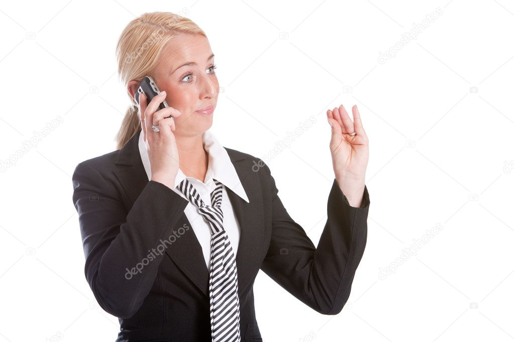 Businesswoman looking very unconvinced  — Stock Photo #2948129