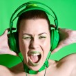 Green rage - Stock Photo