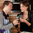 Stock Photo: Having a toast