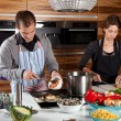 Stock Photo: Cooking together