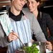 Cooking together - Stock Photo