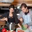 Together in the kitchen — Foto de Stock