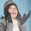 Happy snow girl — Stock Photo #2951508