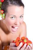 Fruit meisje — Stockfoto
