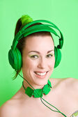 Happy music listener — Stock Photo