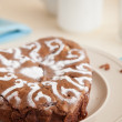 Chocolate apple cake — Stock Photo