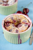 Cherry clafoutis — Stock Photo
