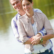 Beautiful young couple together — Foto Stock