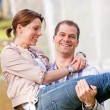 Happy young couple — Stockfoto